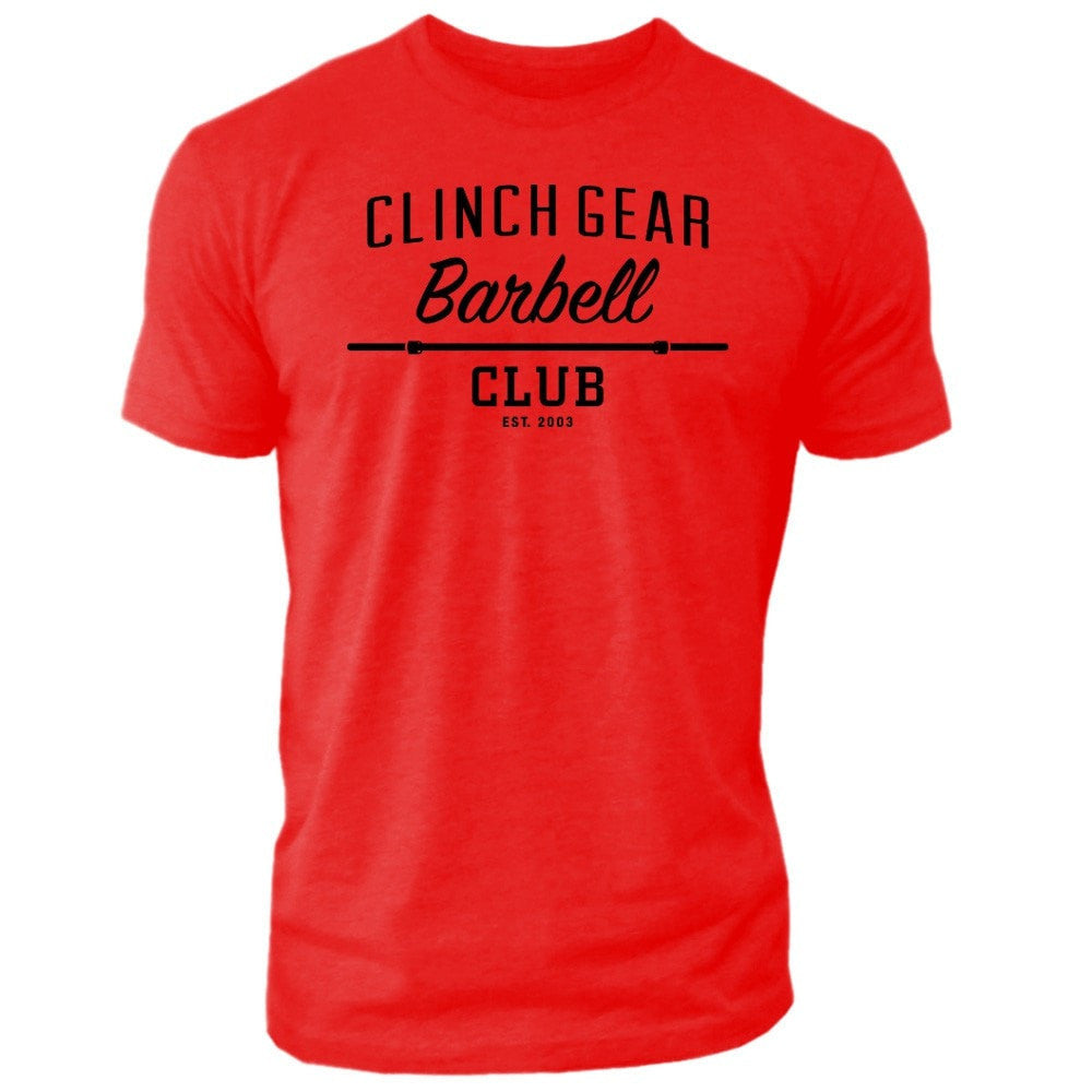 Clinch Gear Barbell Club - Crew Tee - Red