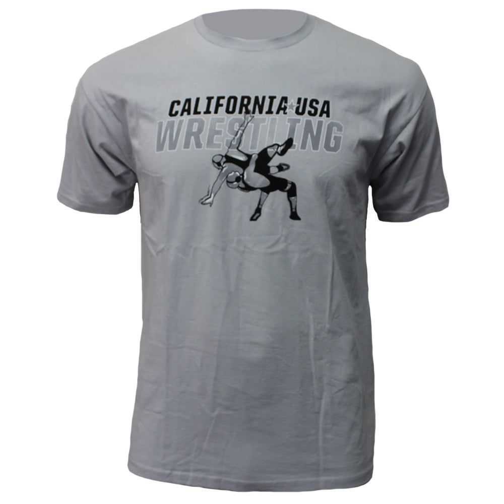 CA/USA Wrestling Suplex - Youth - Grey - Clinch Gear