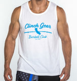 Clinch Gear Barbell Club - California - Men's Tank - White - Clinch Gear