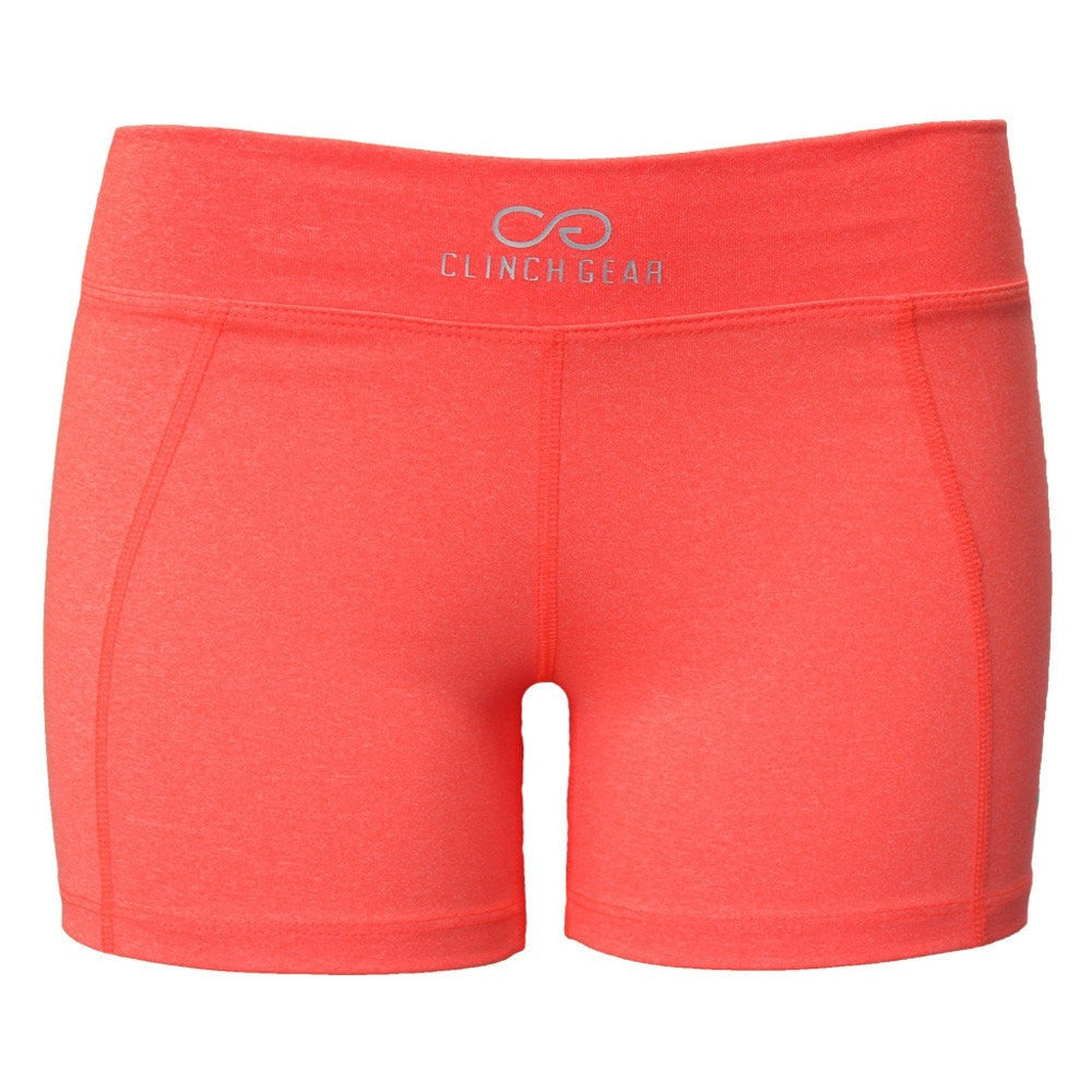 Cross Training Performance Micro Booty Short - Coral - Clinch Gear