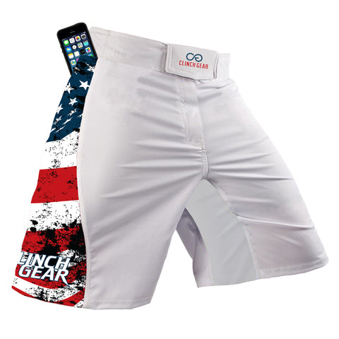 Flex Short – America – White - Clinch Gear