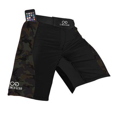 Flex Short – Trooper – Black/Camo - Clinch Gear