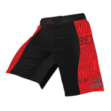 Flex Short – Will Bend Won't Break – Black – Red - Clinch Gear