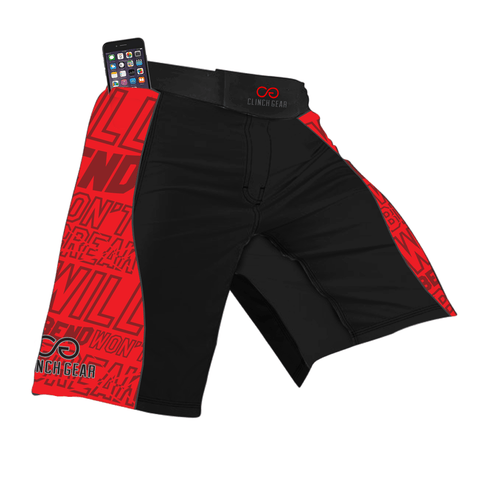 Flex Short – Will Bend Won't Break – Black – Red