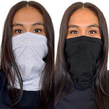 Face Cover Gaiter - Heather White/Vintage Black - 2 Pack