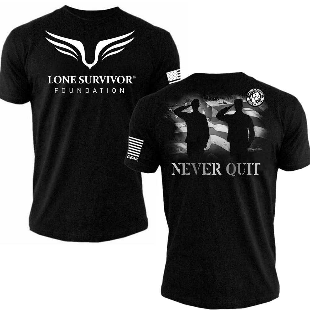 Mens Lone Survivor Foundation 2016 - Tee - Black - Clinch Gear