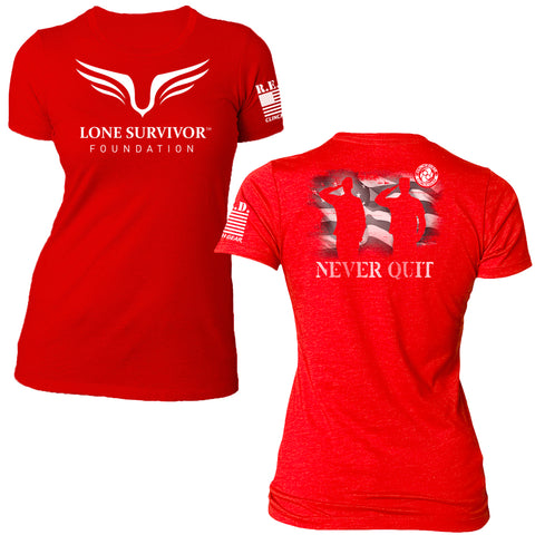 Women's Lone Survivor Foundation 2016 Tee – Red - Clinch Gear