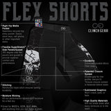 Flex Short – Patriot Darkside – Black/Gray - Clinch Gear