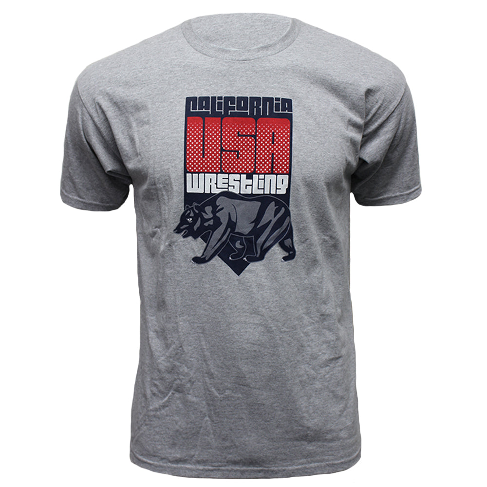 Running Bear Wrestling - Crew Tee - Heather Grey - Clinch Gear