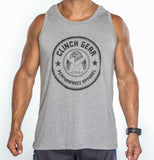 Clinch Gear Stamp Seal - Men's Tank - Heather Gray - Clinch Gear