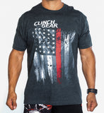 Thin Red Line - Crew Tee - Charcoal - Clinch Gear