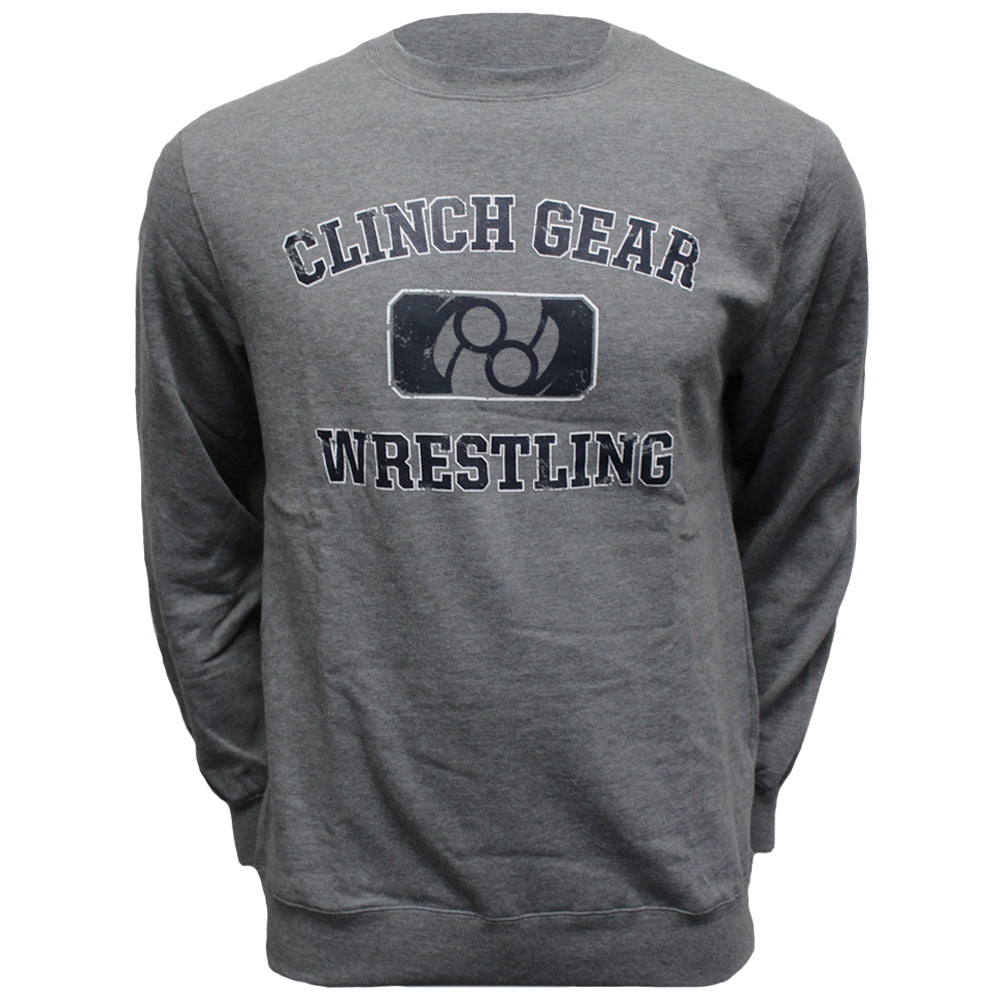 Wrestling Club - Crew Sweatshirt - Heather Grey - Clinch Gear