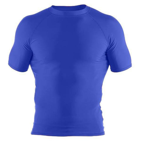 Basic Rash Guard- Short Sleeve- Royal - Clinch Gear