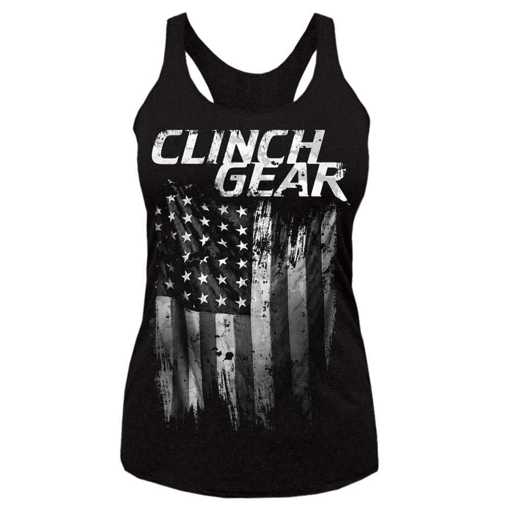 AMERICA - Racerback Tank - Black - Clinch Gear