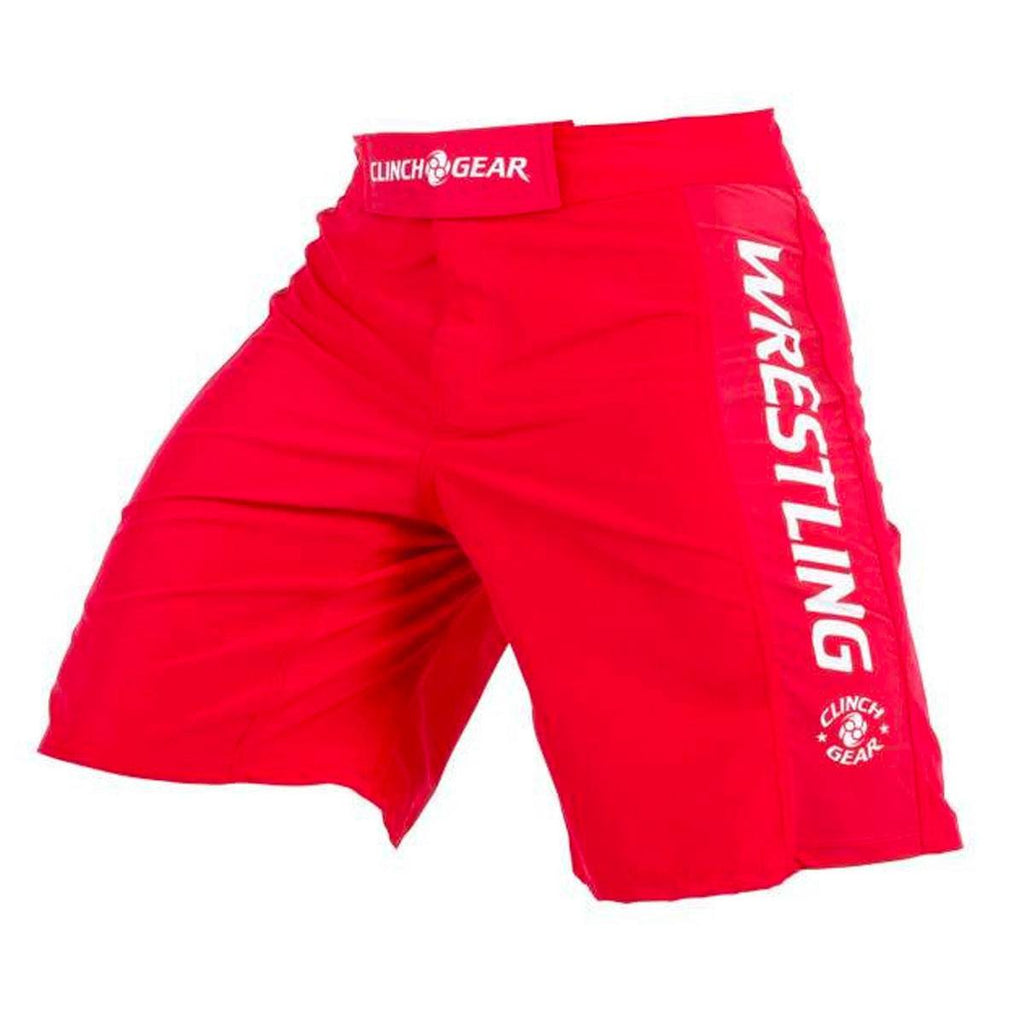 Performance Wrestling Short- Red - Clinch Gear