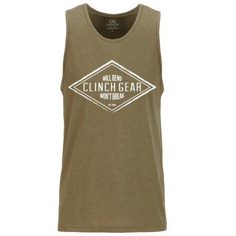 Diamond Men's Tank - Army Green - Clinch Gear