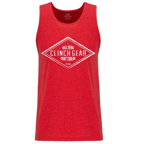 Diamond Men's Tank - Red - Clinch Gear