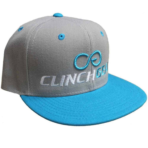 CG ICON – Snapback Hat– Teal/Gray - Clinch Gear