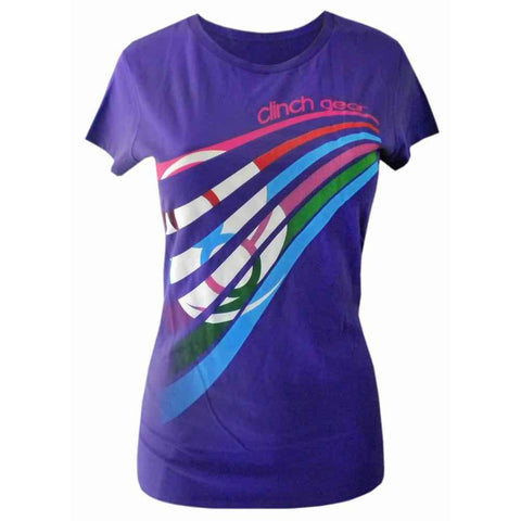 Ladies Rainbow Tee - Purple - Clinch Gear