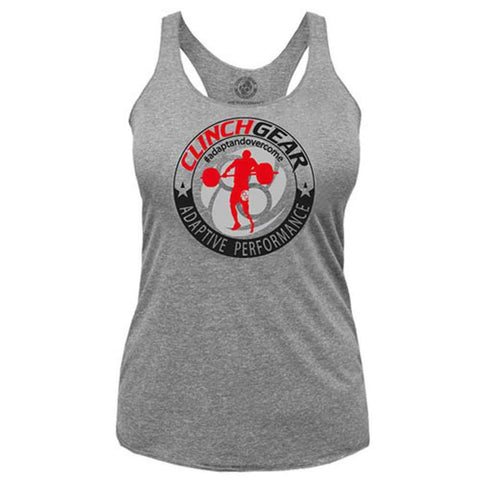 ADAPTIVE PERFORMANCE - CAF - Racerback Tank - Premium Heather - Clinch Gear