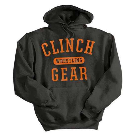 Classic Wrestling Pullover- Black/Orange - Clinch Gear