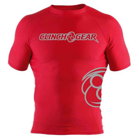 ICON Rash Guard - Short Sleeve - Red/Gray - Clinch Gear