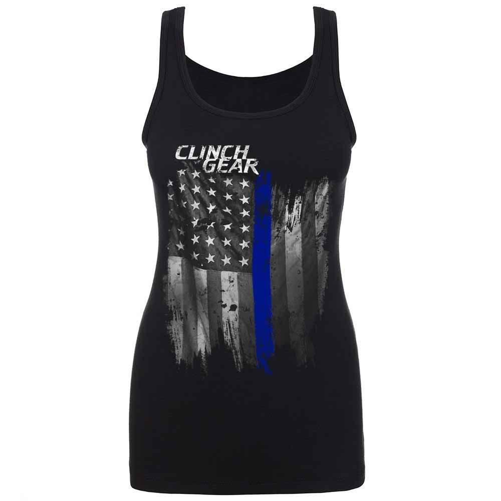Thin Blue Line - Women's Tank - Black - Clinch Gear