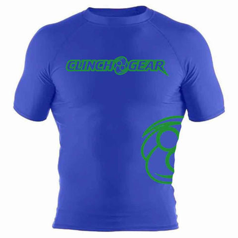 ICON Rash Guard - Short Sleeve - Royal/Green - Clinch Gear
