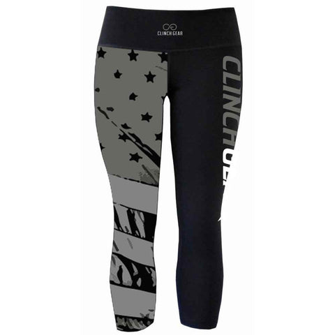 Cross Training Compression Capri Pant - Patriot - Gray/Black - Clinch Gear