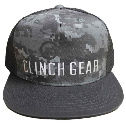 CG ICON – Snapback Hat – Digi Camo – Black/Gray - Clinch Gear