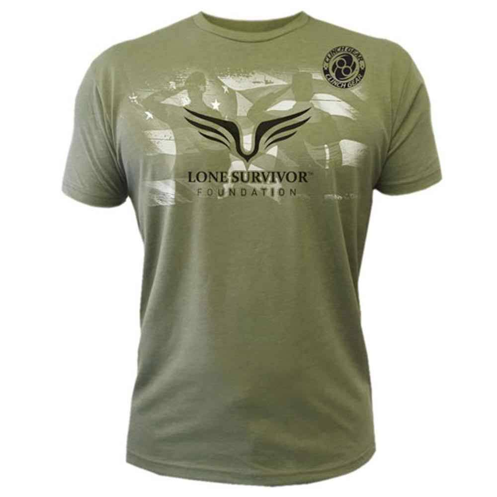 Mens Lone Survivor 2015 Tee - Olive Green - Clinch Gear