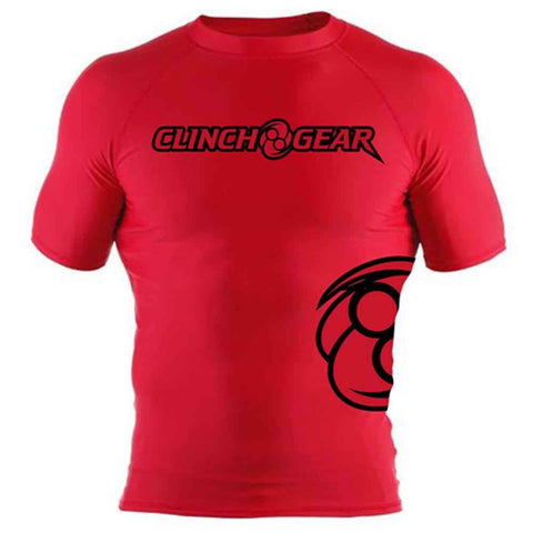 ICON Rash Guard - Short Sleeve - Red/Black - Clinch Gear