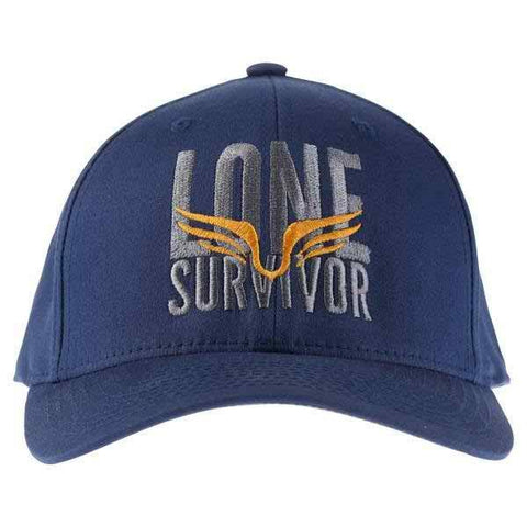 Lone Survivor Fitted Hat- Navy - Clinch Gear