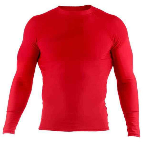 Basic Rash Guard- Long Sleeve- Red - Clinch Gear