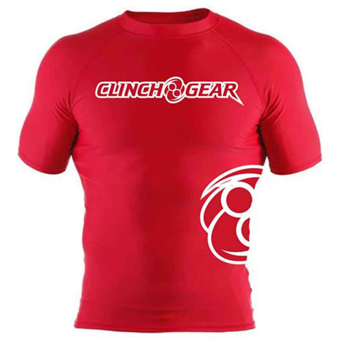 ICON Rash Guard - Short Sleeve - Red/White - Clinch Gear