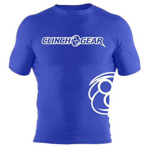 ICON Rash Guard - Short Sleeve - Royal/White - Clinch Gear