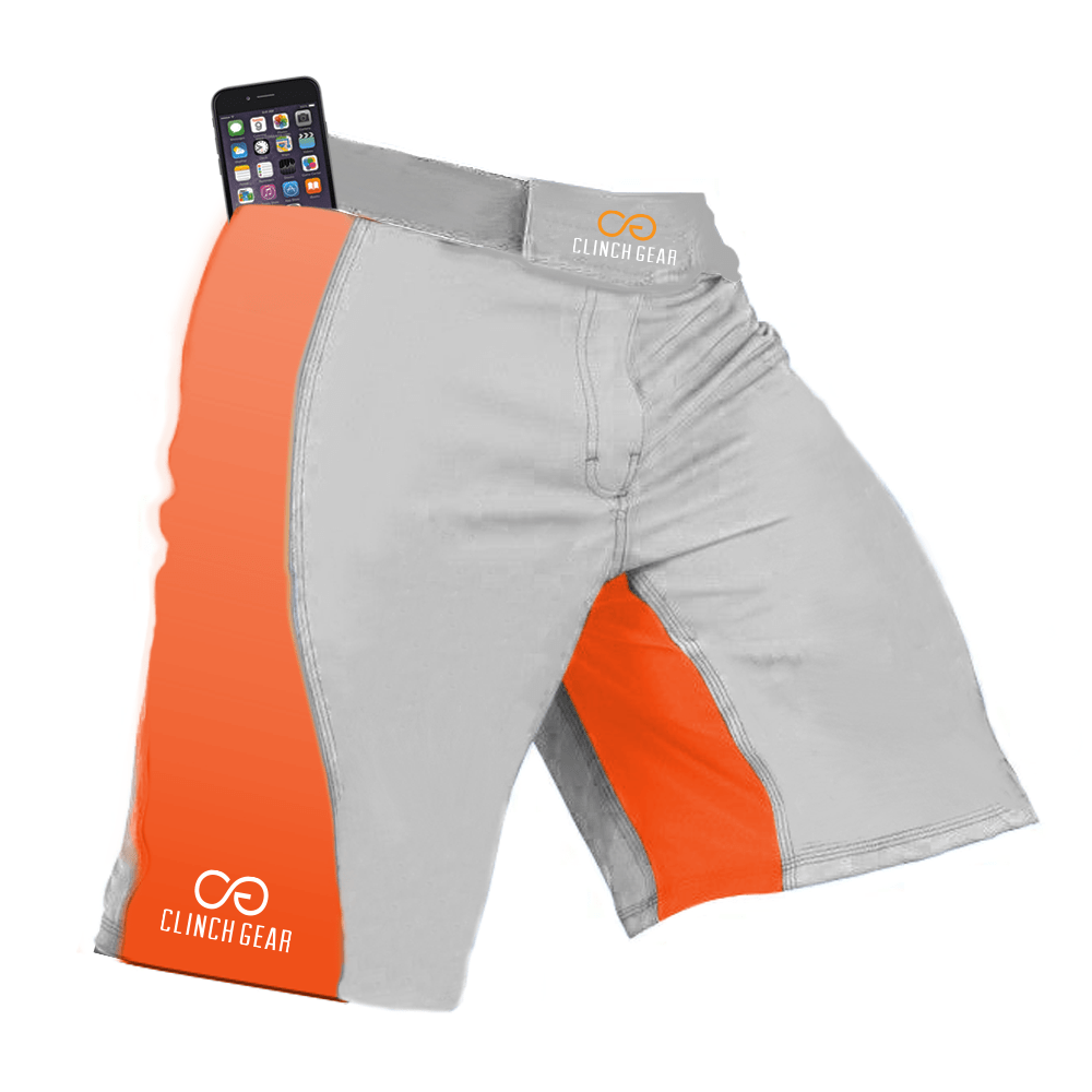 Flex Short – Gray/Orange - Clinch Gear
