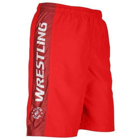 Youth Wrestling Short- Red - Clinch Gear