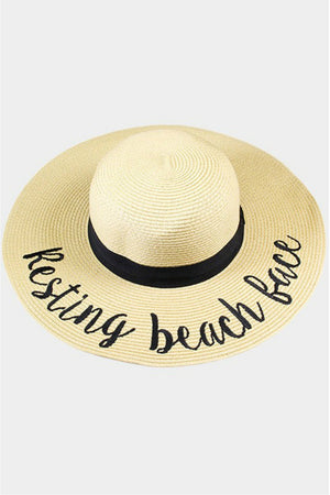 Embroidered Floppy Sun Hat (multiple styles)
