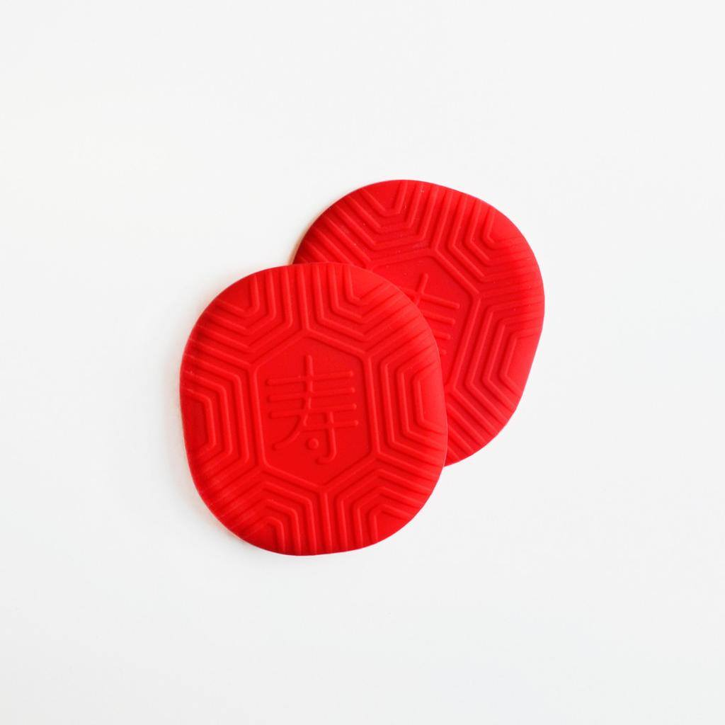 SS54 - Ang Ku Kueh Coaster (Bright Red) -  - STUCKSHOP - Souvenirs from Singapore