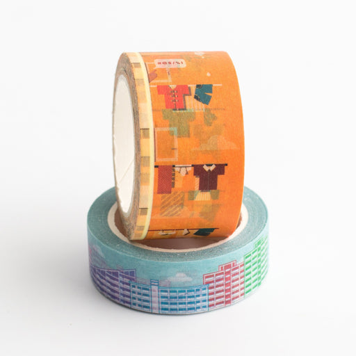 SS26 - Laundry Pole + HDB Washi Tapes - Stationery - STUCKSHOP - Souvenirs from Singapore