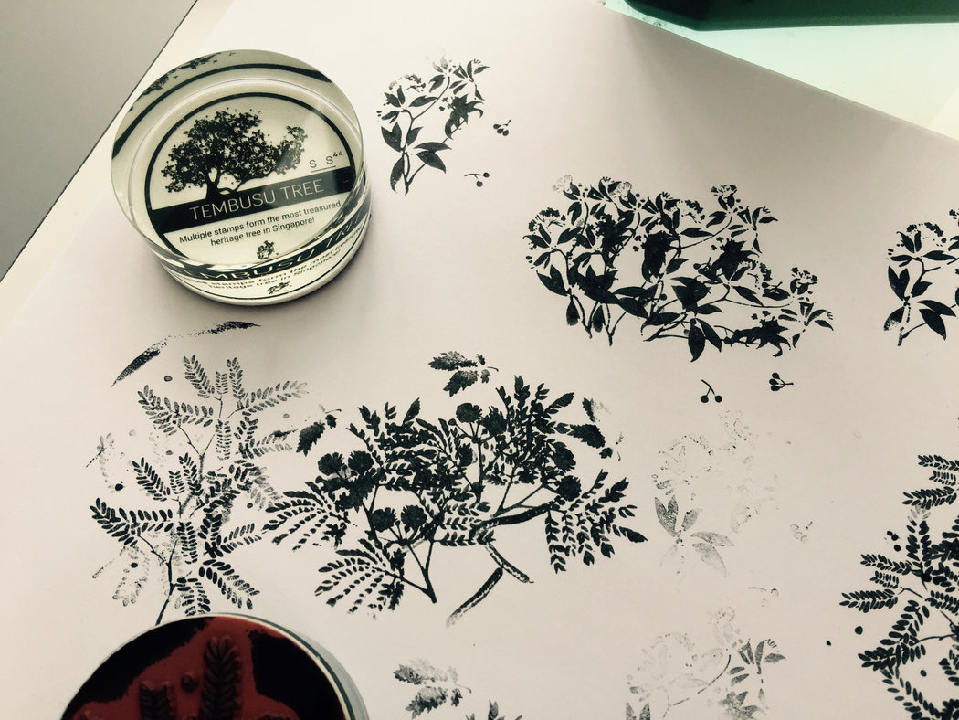 SS44 - Botanical Details Rubber Stamps - Stationery - STUCKSHOP - Souvenirs from Singapore