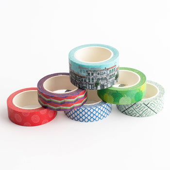 SS46 - Pasar Malam Assorted Washi Tapes - Stationery - STUCKSHOP - Souvenirs from Singapore