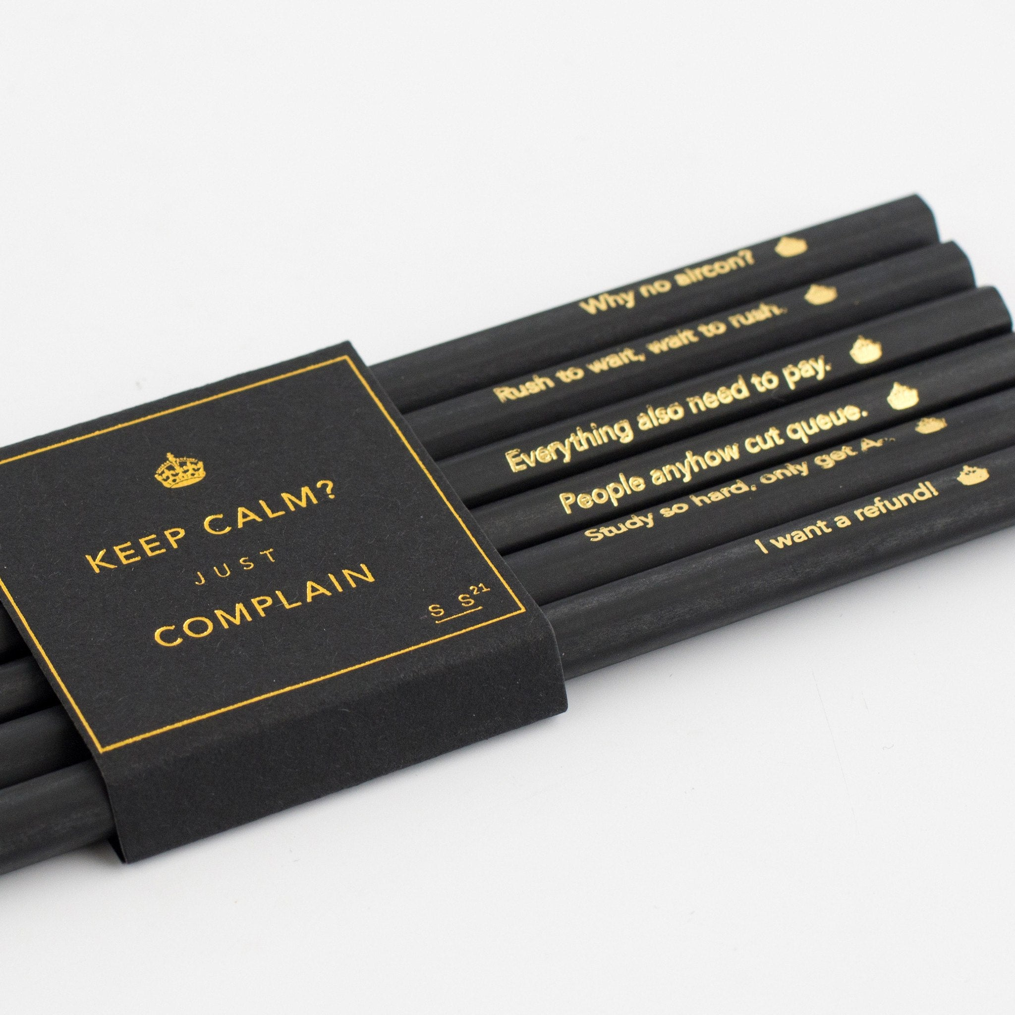 SS21 - Complain King Pencils - Stationery - STUCKSHOP - Souvenirs from Singapore