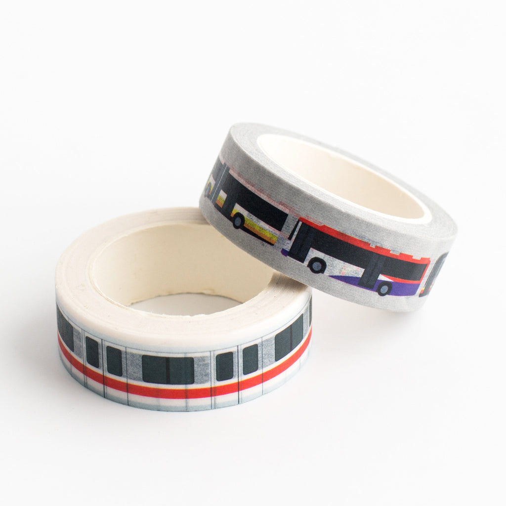 SS32 - EZ-Link MRT + Bus Washi Tapes - Stationery - STUCKSHOP - Souvenirs from Singapore