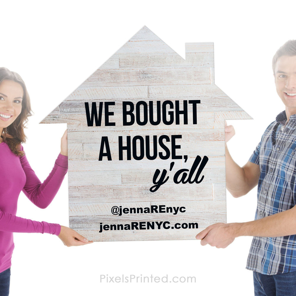 "23""x23"" House Shaped Real Estate Testimonial Prop PixelsPrinted"