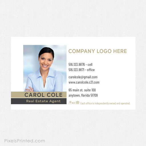 Century 21 business card magnets business cards PixelsPrinted