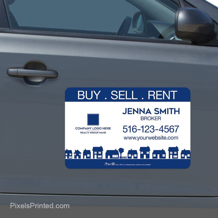 Coldwell Banker car magnets, house magnets, Coldwell Banker house magnets