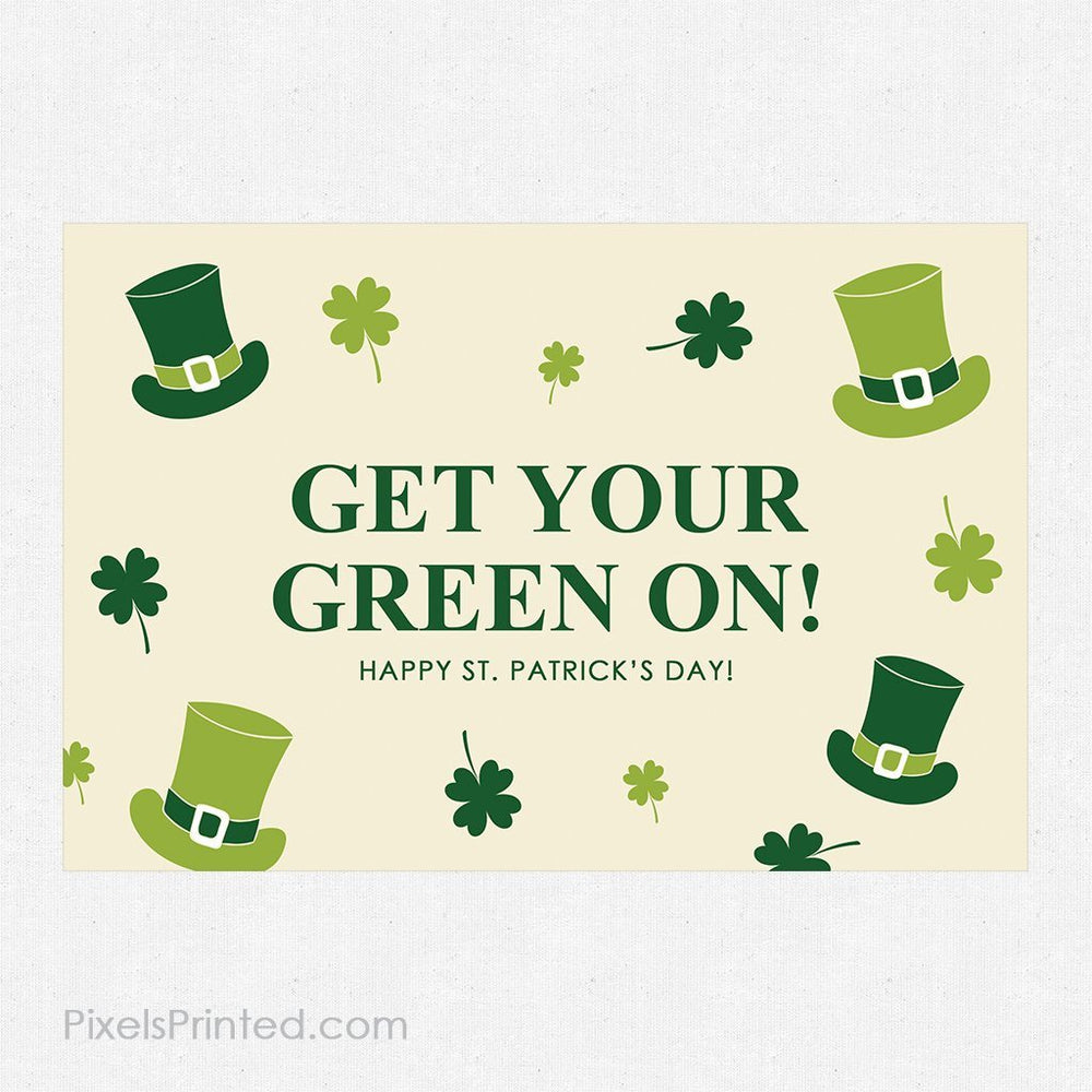 Coldwell Banker St. Patrick's Day postcards PixelsPrinted