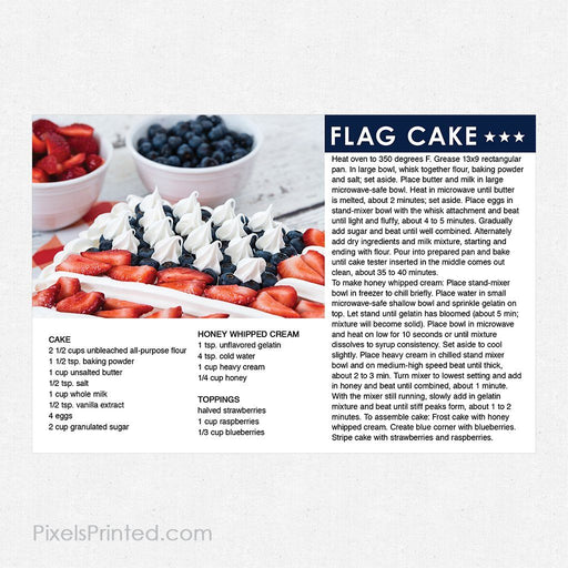 ERA real estate 4th of July recipe postcards PixelsPrinted